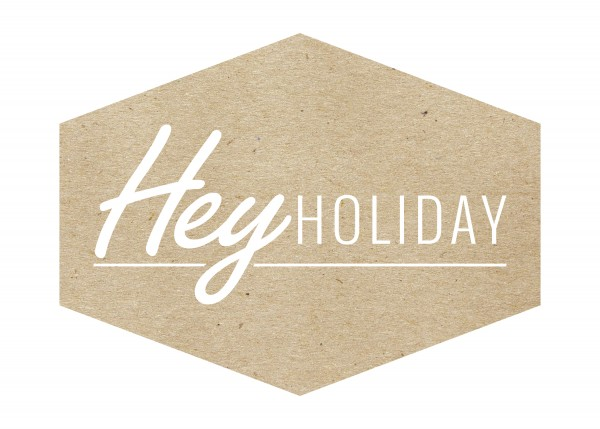 Hey Holiday Logo with Texture-Paper Grain